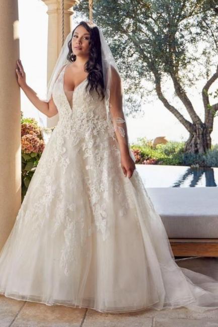 Brautkleider Große Größe A Linie   Übergroße Hochzeitskleider Spitze