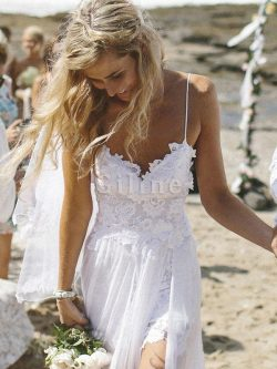 Abito da sposa sensuale luminoso principessa senza maniche spazzola treno naturale – Gillne.it