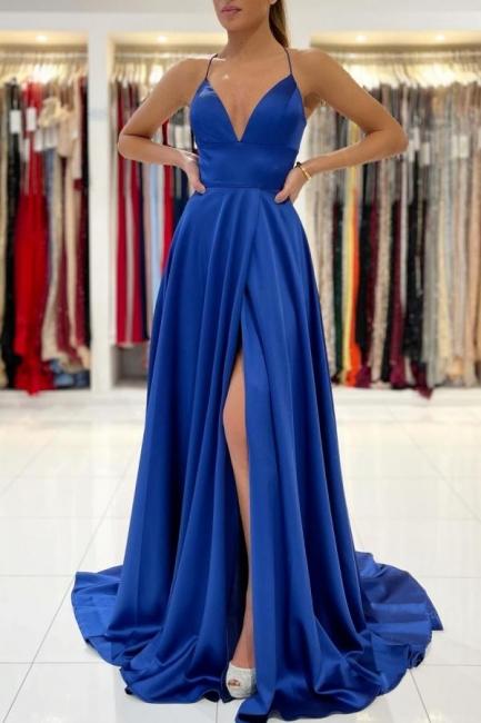 König Blaue Abendkleider Lang | Abiballkleider Günstig