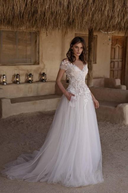 Schlichtes Hochzeitskleid A Linie   Brautkleider Günstig Online Kaufen
