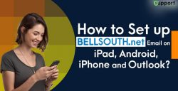 How can I set Bellsouth email on iPhone?