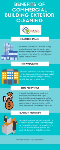 Benefits of Commercial Building Exterior Cleaning