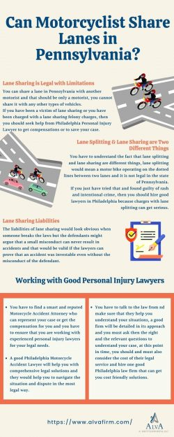 Can Motorcyclist Share Lanes in Pennsylvania?