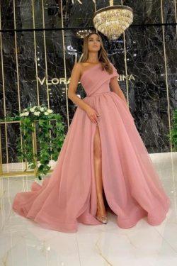 Abendkleid Lang Altrosa | Abiballkleider Günstig Online Kaufen