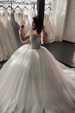 Schöne Hochzeitskleider Prinzessin | Brautkleider Tüll Günstig