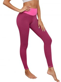 Cheeky Pink High Rise Tik Tok Leggings Full Length Ladies Sportswear