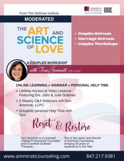 Choose The Gottman Certified Therapist For Couples Retreats – Ammirati Counseling