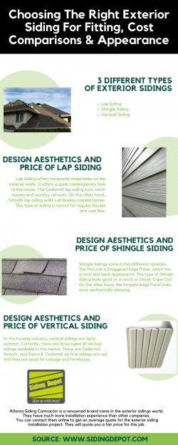 Choosing The Right Exterior Siding For Fitting, Cost Comparisons & Appearance