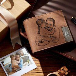 Men's Custom Photo Engraved Wallet