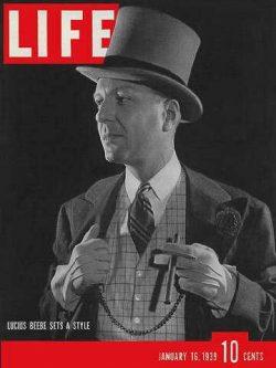 Life Magazine, January 16, 1939 – Lucius Beebe