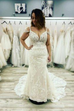 Designer Brautkleid Meerjungfrau Spitze | Hochzeitskleider Günstig