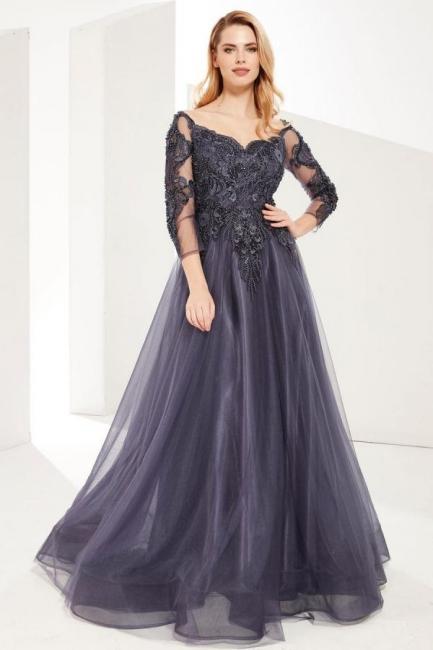 Abendkleider Lang Grau | Abiballkleider Mit Ärmel
