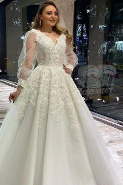 Brautkleider Mit Ärmel | Hochzeitskleider Spitze Große Größe