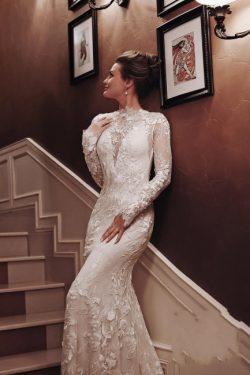 Brautkleider Meerjungfrau Spitze | Hochzeitskleider mit Ärmel