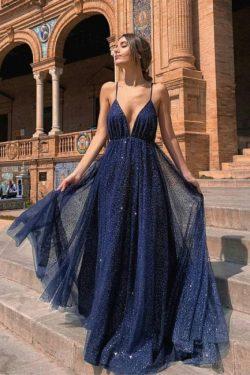 Abiballkleider Lang Glitzer | Abendkleider Günstig Kaufen