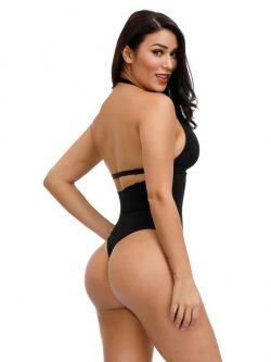FeelinGirl Adjustable Straps Thong Bodysuit For Women | Backless Shapewear