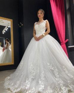 Elegante Brautkleider Prinzessin | Tüll Hochzeitskleider mit Spitze