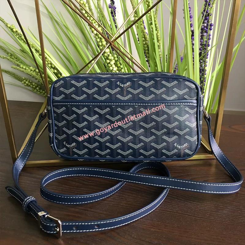 Goyard Goyardine Amacapvert Crossbody Bag Navy Blue