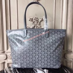 Goyard Goyardine Artois Tote Light Grey