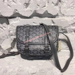 Goyard Goyardine Belvedere Medium Messenger Bag Grey