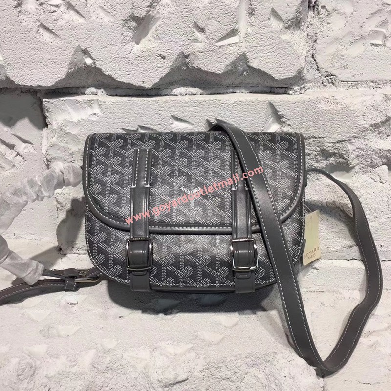 Goyard Goyardine Belvedere Medium Messenger Bag Grey