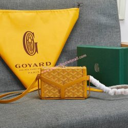Goyard Goyardine Minaudiere Bag Yellow