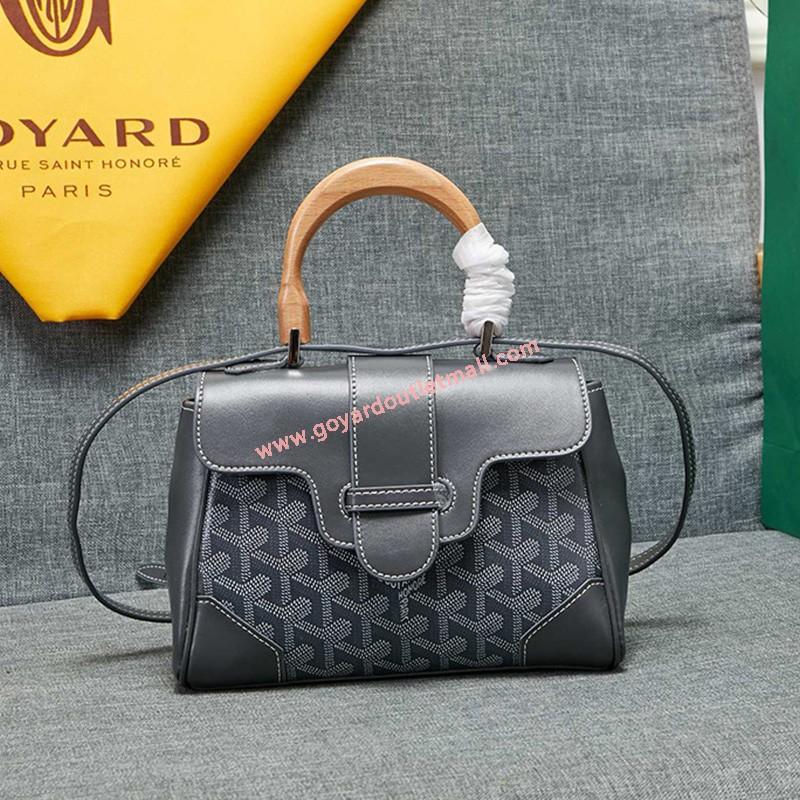 Goyard Goyardine Mini Saigon Bag Grey