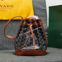 Goyard Goyardine Petit Flot Bucket Bag Brown