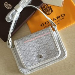 Goyard Goyardine Plumet Crossbody Bag White