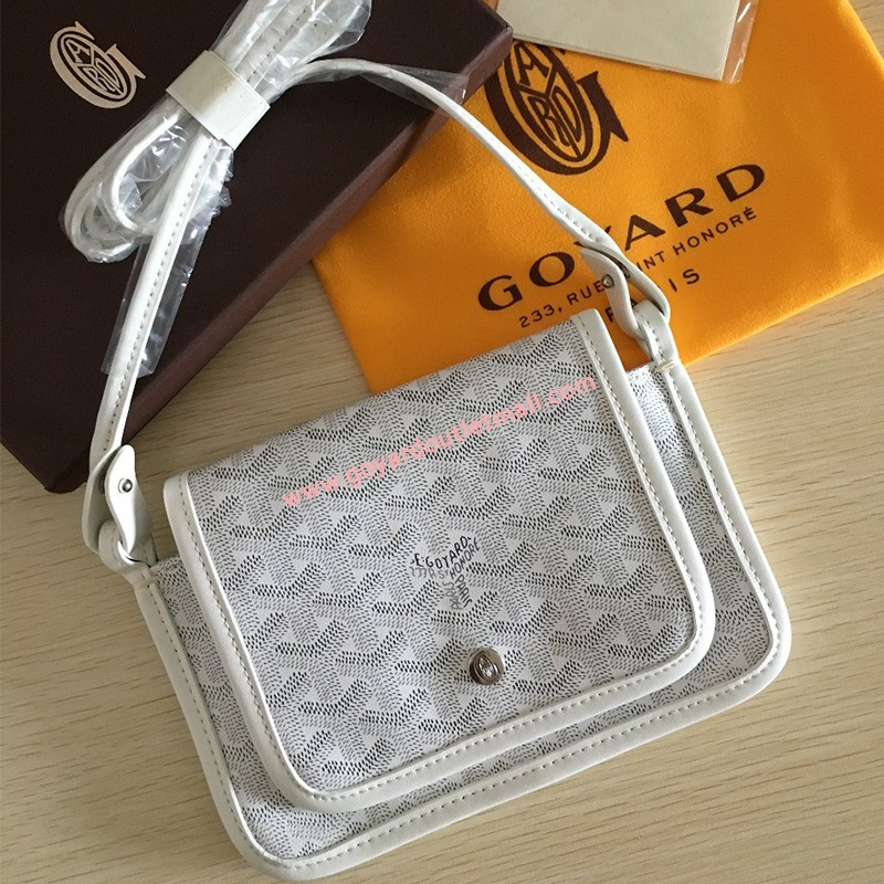 Goyard Goyardine Plumet Crossbody Bag White