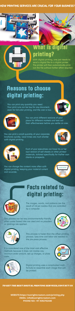 How Printing Services are Crucial For Your Business?