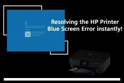 How to fix HP printer blue screen error?