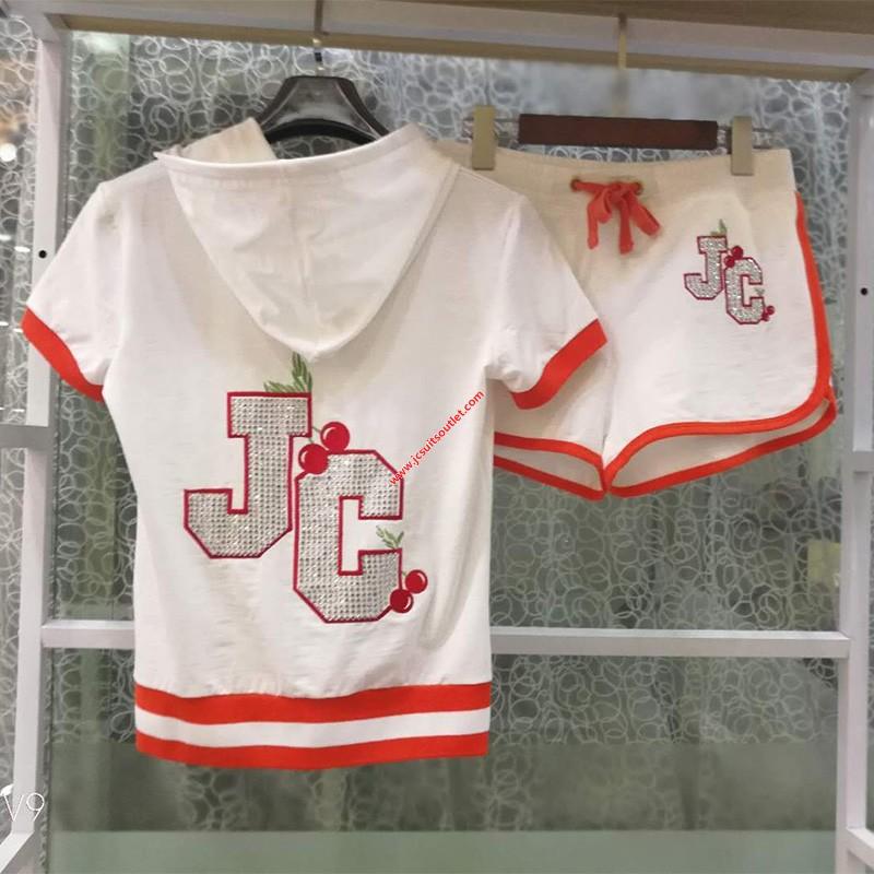 Juicy Couture Sequin JC Tracksuits 7293 2pcs Women Suits White