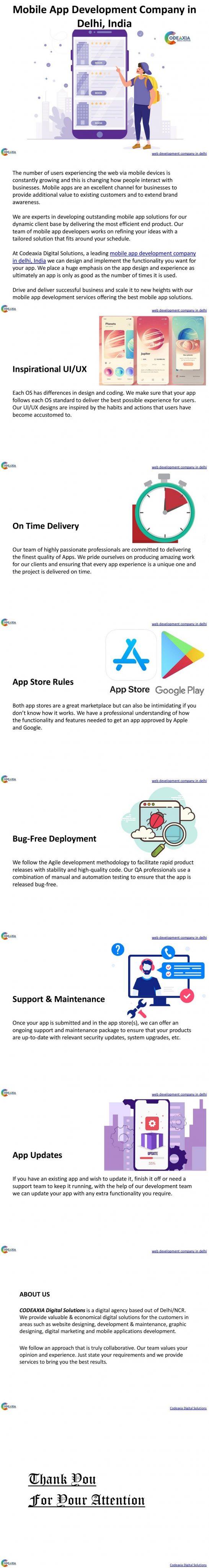 Mobile App Development Company in Delhi, India