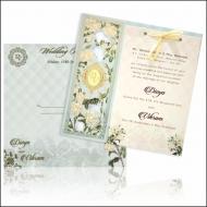 Modern Designer Floral Wedding Card – KNKA8051