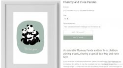 Mummy and three Pandas