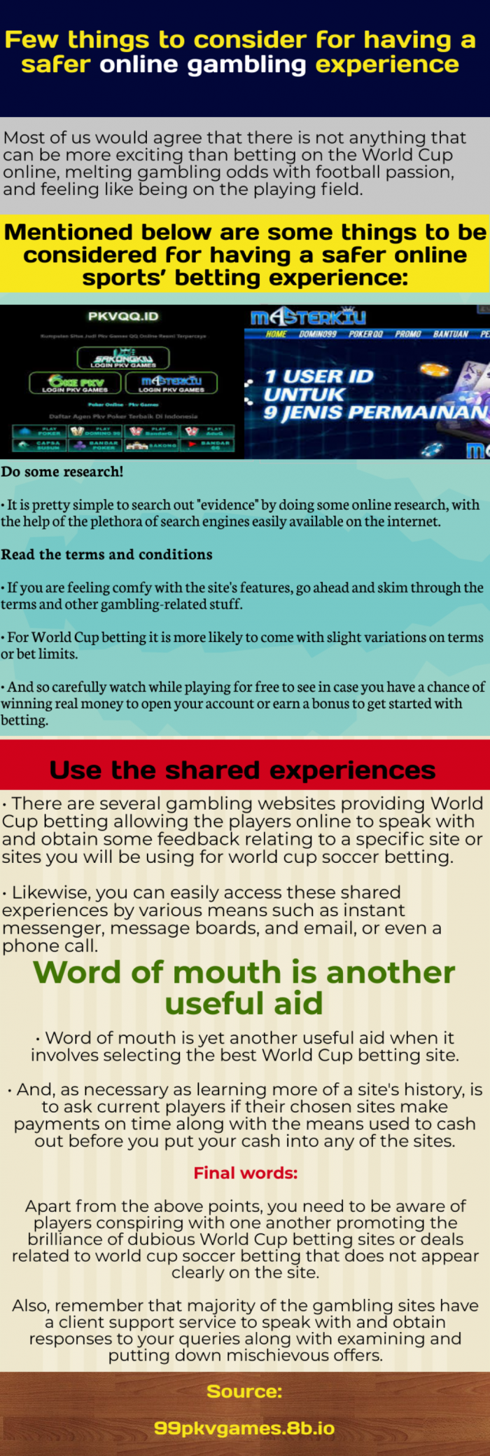 A quick look on how to gamble online more safely