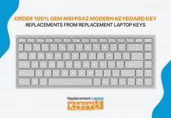 Order 100% OEM MSI PS42 Modern Keyboard Key Replacements from Replacement Laptop Keys