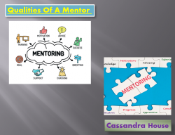 Qualities Required For A Mentor | Cassandra House