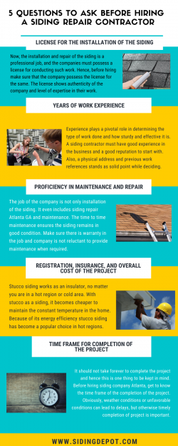 5 Questions To Ask Before Hiring A Siding Repair Contractor