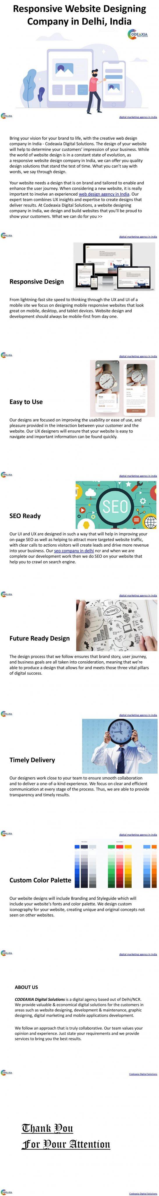 Responsive Website Designing Company in Delhi, India