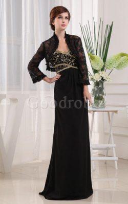 Robe de soirée longue distinguee avec perle de fourreau decoration en fleur – GoodRobe