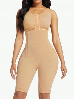 Sculptshe Postpartum Faja Side Zipper Bodysuit
