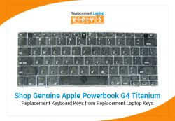 Shop Genuine Apple Powerbook G4 Titanium Replacement Keyboard Keys from Replacement Laptop Keys
