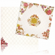 Square Padded Premium Floral Wedding Card – KNPO5509W