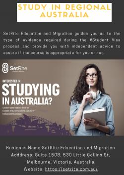 Study in regional Australia