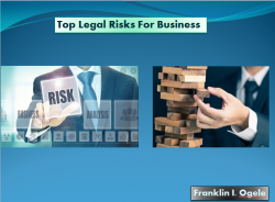 Top Legal Risks For Business | Franklin I. Ogele