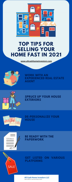 Top Tips For Selling Your Home Fast In 2021