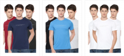Buy BASICS Men's T-Shirt (Pack of 3) at Ramraj Cotton