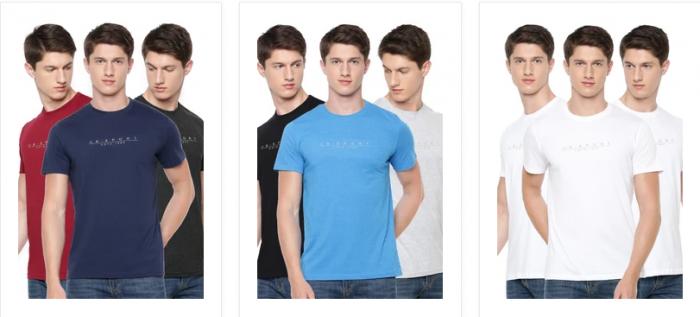 Buy BASICS Men's T-Shirt (Pack of 3) at Ramraj Cotton
